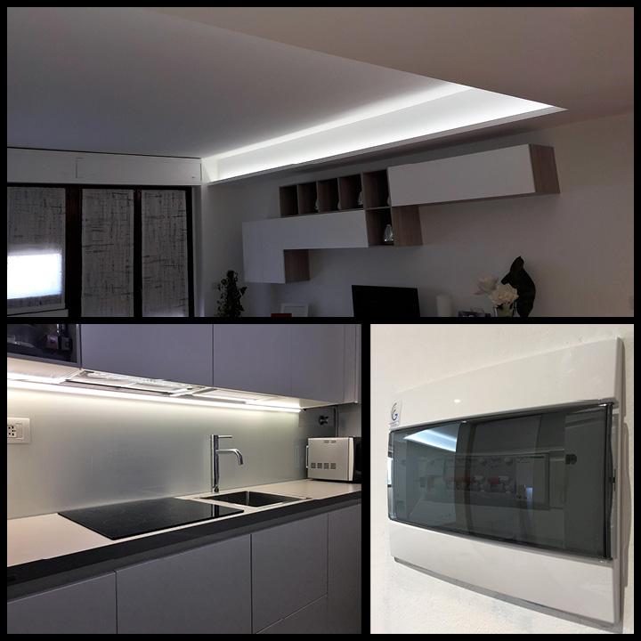 RELAMPING LED CON STRISCE LED DIMMERABILI - CAVENAGO